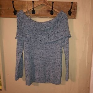 Lauren Conrad off the should sweater size M NWT